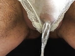 Pissing in cum stained panties