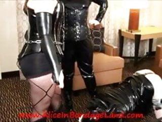 Kissing Her Boots FemDom Sissy Protocol Training Mistress