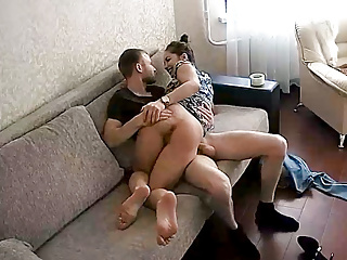 Horny in hardcore real action play at home...