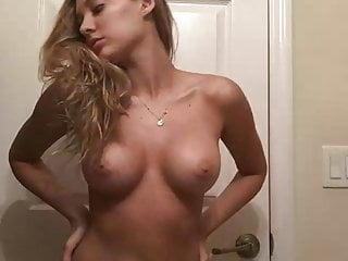 Roasting hot younger novice blonde exhibiting off her nude physique