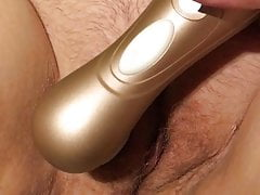 Horny MILF cums and squirts