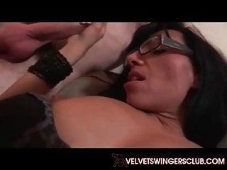 Velvet swingers club gangbang milf and 10 cocks...