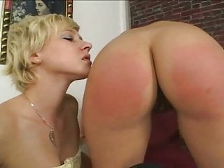 Spanking cumming Lesbian punishment for BDSM and
