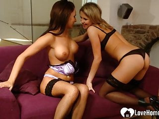 Some carpet munching with two sexy lesbian sweethearts
