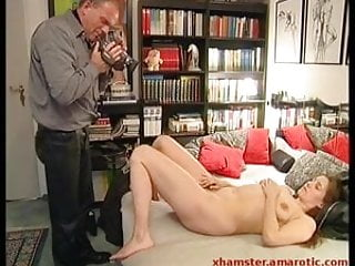 Tall lady from the street strips & masturbate