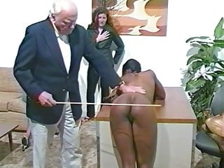 Spanking interracial asses in office...