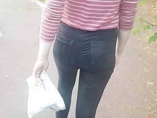 Skinny teen ass