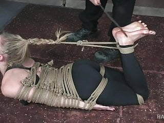 Hogtied and Bastinado