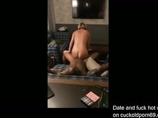 Blonde Bitch Lover Utilized by big black cock in London Lodge