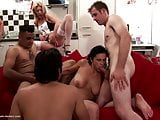 Real mature mother gets hard brutal group sex