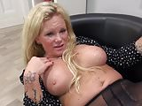 Kinky German mutter Gina playing with pussy