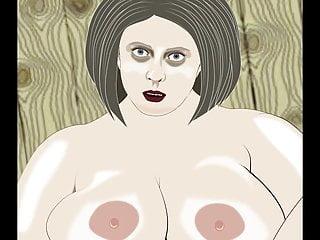 Bbw masturbate animation...