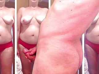 Mature wife 47 in red pantiies...