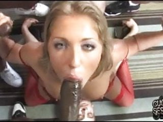 Dominated cuckold eat black cum out of his wife's vagina