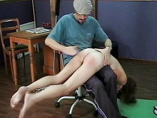 girl Skater stripped and spanked Rare clip shame