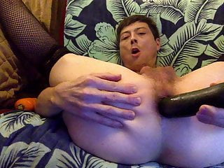 Sexy Logan Male Stripper Nasty Hot Anal With Cucumber Carrot