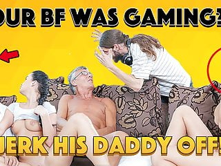 Daddy4k guy is occupied with computers...