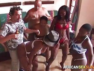 With young ebony sluts...