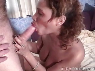 Busty babe enjoys some dick...