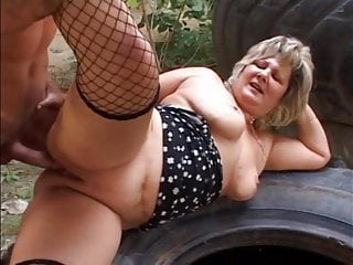 Older outdoor sex...