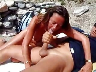 Blowjob on a beach