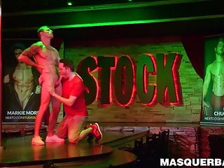 Handsome athletic stripper markie more sucked by gay...