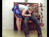 Female piano teacher sucking  a cock in a short skirt - Nice