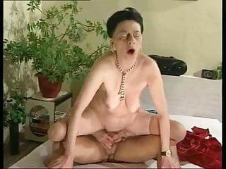Granny in stockings fucked...