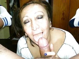 Sexy milf bitch deepthroats neatly