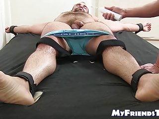 سکس گی Bound muscular hairy hunk endures tickling torment from dom muscle  hunk  hd videos