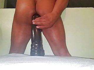 Black huge dildo...