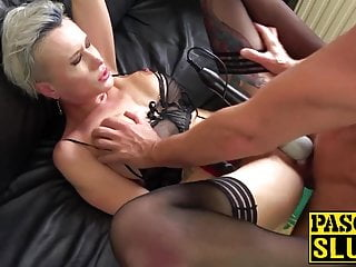 Submissive in babe and every British abused hole handcuffed