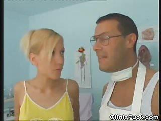 Doctor examines...