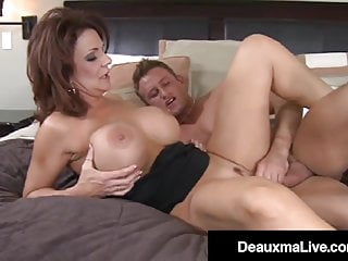 Busty Cougar Milf Deauxma Slurps & Smashes Younger Pal's Shaft!