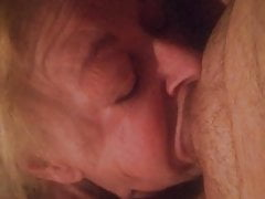 slut almost swallows dick and balls