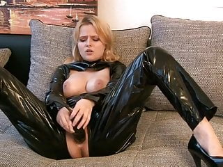 and Sexy pvc in Black Horny