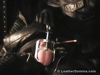 The leather domina...