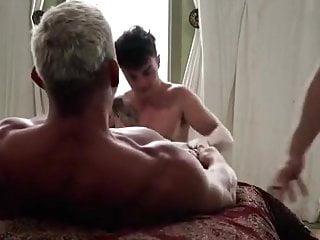 Two men hard fuck boy