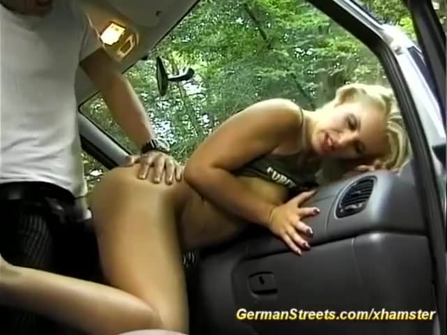 german Milf picked up for car anal sex