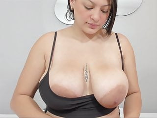 Kitty teases with areolas...