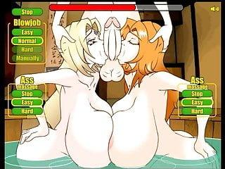 with Hentai game Tsunade Matsumoto & Threesome