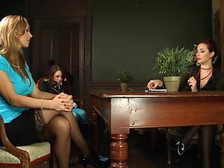 Mistress Mom Lesbian video: Ms Ava accepts the New Students to her School in her Style