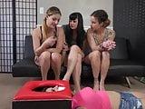 3 girls face fart an ass slave