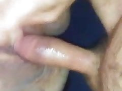Wife's pussy drips and cums on my dick