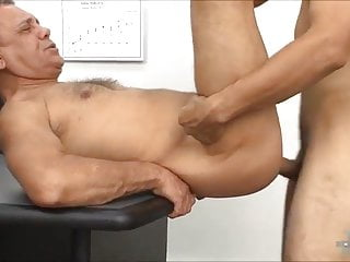 Handsome boss fucked in the office