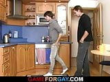 Cute hetero plumber takes it from behind