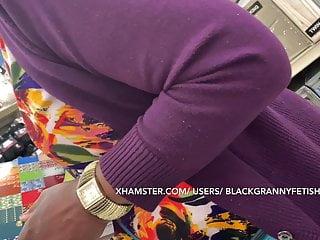 Tight Granny Panties In Upskirt Black