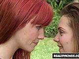 hot young lesbians Kiera Winters and Elle Alexandra make