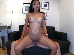 Quarantine homemade porn video with his busty Asian GF