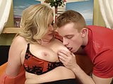 Big busty mom suck and fuck lucky strong son